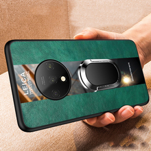 Luxury Leather Silicone Magnetic Holder Phone Case For
