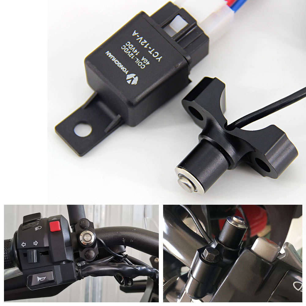 Handle switch controller handle button for <font><b>Honda</b></font> CBR 300 650 500 CB500X CB650 <font><b>NC750X</b></font> CTX700 LED Fog <font><b>Lights</b></font> Wiring Harness Switch image