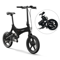 Folding Electric Bicycle 16 Inch Power Assist Moped Electric Bike E Bike 36V 250W Motor and Dual Disc Brakes