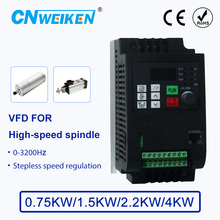 цена на Engraving machine 0-3200Hz 380V 750W/1500W/2.2KW/4KW  3 Phase 380v Output AC Drive VFD Frequency Inverter For High-speed spindle