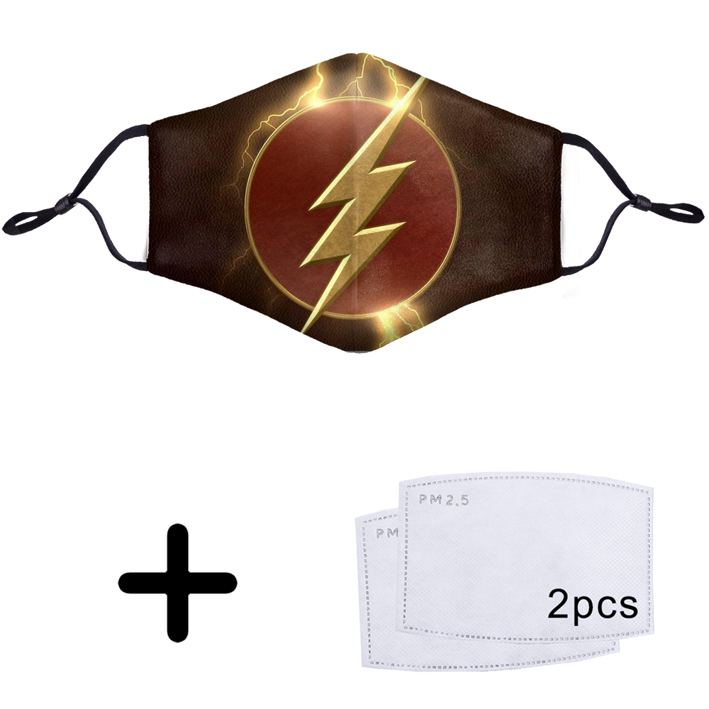The Flash Barry Allen Superhero 3D Face PM2.5 Filter Mask Mouth Protective 3D Anti Dust Dustproof Half Bacteria Proof Flu Masks