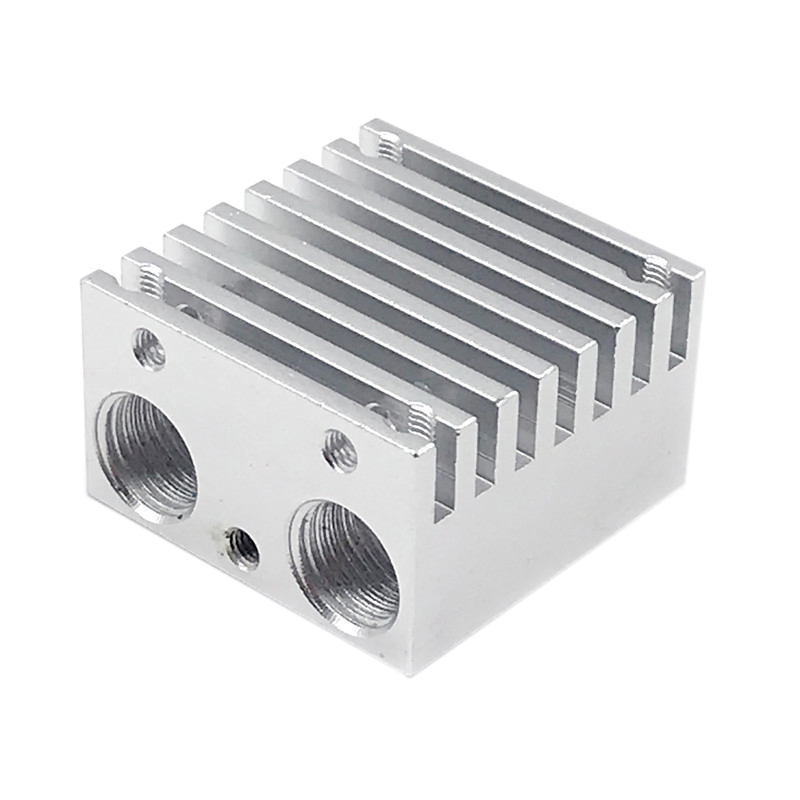 Multi-Extruder Aluminum Alloy Double-Headed Heat Sink Dual-Color Mixed-Colored Nozzle Heat Sink All Metal Upgrade DIY Extruded A