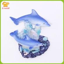 Силиконовая форма для мыла в виде дельфина полимерная глина