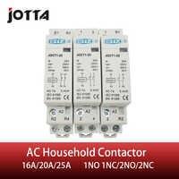 2P 16A/20A/25A 220V/230V 50/60HZ din rail household ac contactor 1NO 1NC/2NO/2NC