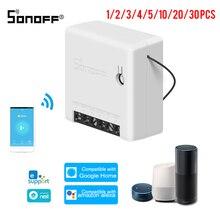 Sonoff mini em dois sentidos interruptor inteligente diy aparelho automação interruptores de controle remoto para alexa google casa wi fi interruptor inteligente