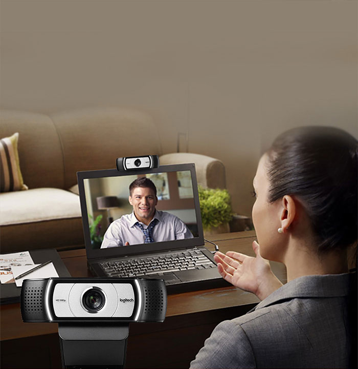 Logitech 90 degree wide-angle HD USB Webcam Suitable for Laptop/LCD/CRT Monitor 7