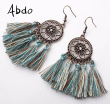 New 30 Colors Bohemian Retro Long Tassel Earrings Vintage Exaggerated Dangle For Women Statement fashion Jewelry