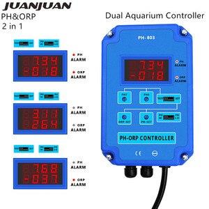 2 в 1 PH & ORP Тестер монитор рН-метр качество воды выходная мощность реле управления электродом зонд BNC для аквариум для гидропоники 21%