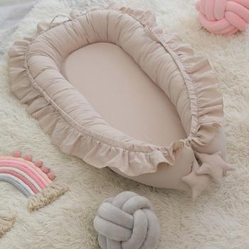 Łóżeczko dla dziecka łóżeczko dziecięce łóżeczko dziecięce łóżeczko dziecięce łóżeczko dziecięce łóżeczko dziecięce łóżeczko dziecięce rekwizyty fotograficzne dla dzieci tanie i dobre opinie Unisex W wieku 0-6m 7-12m CN (pochodzenie) Tkaniny 85*45 cm Przenośne W stylu rysunkowym 90x55x15cm