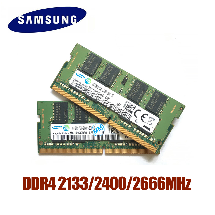 SAMSUNG DDR4 RAM 4G 8G 16G Laptop Memory RAM 2133 2400 2666MHz 1.2V DRAM Stick for Notebook laptop 4GB 8GB 16GB RAM image
