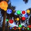 Thrisdar 10 20 30 LED Solar Lantern String Light Outdoor Christmas Garden Backyard Balcony Lantern Ball Solar Garland Light promo