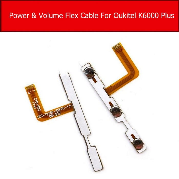 Power On/off+ Volume FPC Key Up/down Button Flex Cable FPC For Oukitel K6000 Plus Cell Phone Replacement Parts Accessories