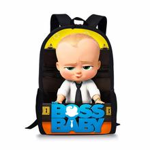 HaoYun Fashion Childrens School Backpack Boss Baby Pattern Students Bag Cartoon Anime Design Teenagers Book-Bags Mochila
