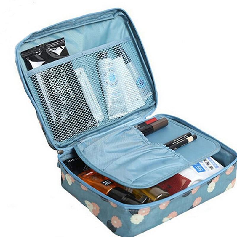 2019 Multifunction Travel Cosmetic Bag Neceser Women Makeup Bags Toiletries Organizer Waterproof Female Storage Make Up Cases