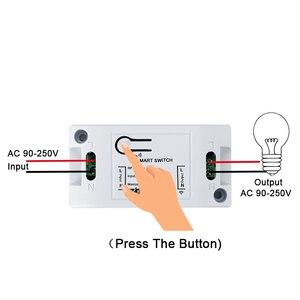 Image 5 - Transmissor e interruptor de controle remoto qiachip, painel de parede sem fio rf 433 mhz ac 110v 220v 1 ch receptor de iluminação do quarto
