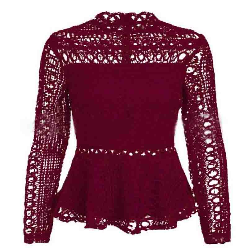 Elegant Lace Hollow Out Blouse 8
