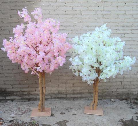 Árvore de Natal para Decoração de Casa Novo Branco Artificial Cerejeira Flores Árvore Simulação Falso Pêssego Desejando Árvores Casamento Centros Centrais