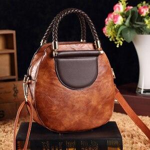 Image 3 - Petit été Vintage sacs pour femmes 2020 Pu cuir fourre tout sac à main femme messager épaule main bandoulière luxe concepteur AB02
