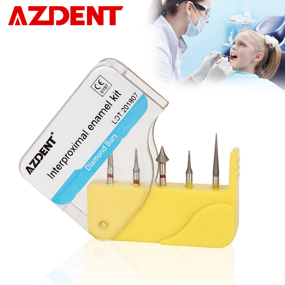 AZDENT Dental Diamond Burs Orthodontic Interproximal Enamel Grinding Polishing