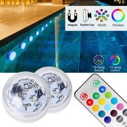 IP68 Водонепроницаемый цветная (RGB) подводная светодиодная цветная (RGB) ночной Светильник подводный светильник для ваза в виде рыбы чаша Откры...