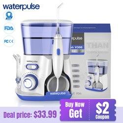Waterpulse V300B Tandheelkundige Flosser Water Floss Monddouche Met 5 Jet Tips Dental Mondhygiëne 10 Druk Tanden Cleaner Floss