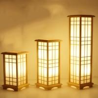 Modern Japanese Floor Standing Lamp Washitsu Window Pane Lamp Restaurant Living Room Hallway Lighting Home Design Wooden Lamps