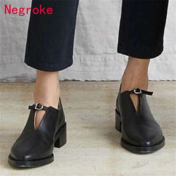 Fashion New PU Leather Pumps Women Slip On Square Toe Chunky High Heels Shoes Woman Pumps Chaussures Zapatos Mujer 2020 2020 hot new women shoes pu sequined high heels zapatos mujer fashion sexy high heels ladies shoes women pumps side zipper pumps