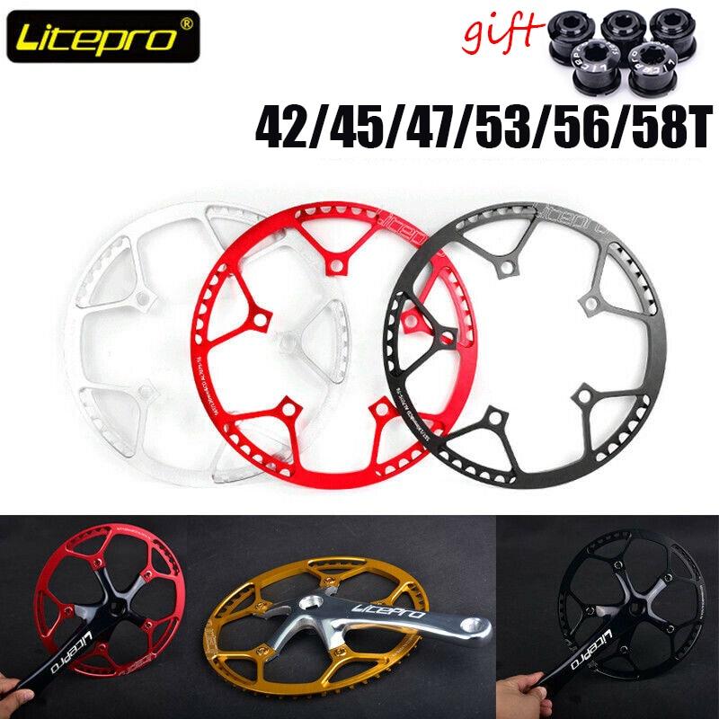 1x Folding Bike Round Chainring Chain Ring BCD 130mm 45 47 53 56 58T Aluminium