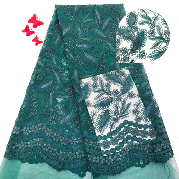 African Lace Fabric 2019 High Quality Lace Women Green French Cord Laces For Nigerian Party Dress French Net Lace Fabric G0056