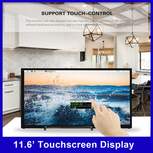 11.6 Inch Monitor Portable IPS HD Monitor Touchscreen Display 1920*1080 Resolution with USB HD Power Interface for Home Office