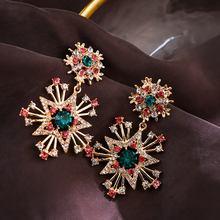 Женские серьги капельки с кристаллами mengjiqiao корейские элегантные