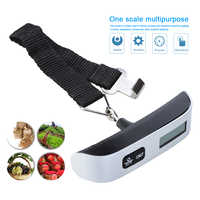 50kg 10g Luggage Scale Electronic Digital Portable Suitcase Travel Scale Weighs Baggage Bag Hanging Scales Balance Weight LCD