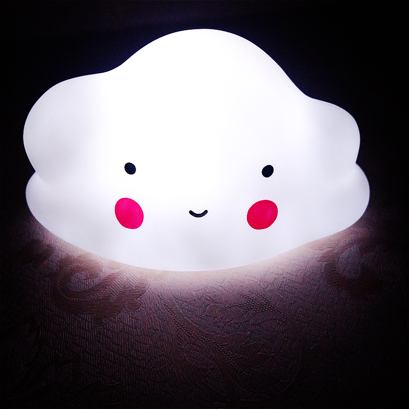 Cloud Shape LED button battery Night Light Children Baby Nursery Lamp Bedroom Sleep For Girl Toy Christmas Gift