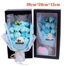 Creative Scented Artificial Soap Flowers Rose Bouquet Gift Box Simulation Rose Valentines Day Birthday Gift Decor недорого