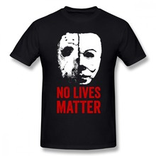 Movie Friday The 13th No Lives Matter Men T Shirt Top Couple Oversize O-neck Cotton Custom Short Sleeve T-shirts(China)