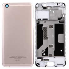 For OPPO R9 / F1 Plus  Front Housing LCD Frame Bezel Plate + Battery Cover Phone Battery Backshell Back Cover Replacement Part new original 5d3 front cover cabint replacement for canon rebel 5d mark iii part 5diii cover front cg2 3195 000