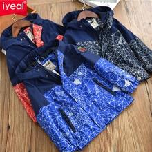 IYEAL Autumn Winter Kids Boys Outdoor Waterproof Jacket Fleece Coat Hood Windbreaker Sport Windproof Jacket Outwear Kids Clothes