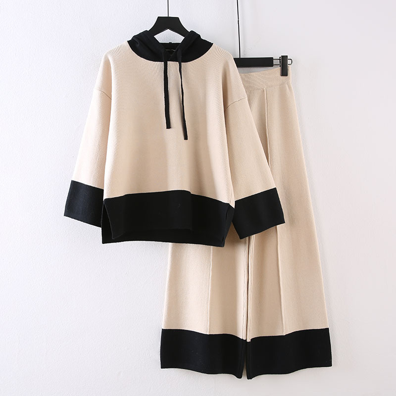 Large Size Dress 2020 New Style Loose-Fit Slimming Winter Two-Piece Set Large GIRL'S Western Style By Age Loose Pants Set