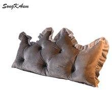 Songkaum lavável cristal veludo longo cabeceira almofada simplicidade moderna almofadas único duplo casa travesseiros tatami para dormir