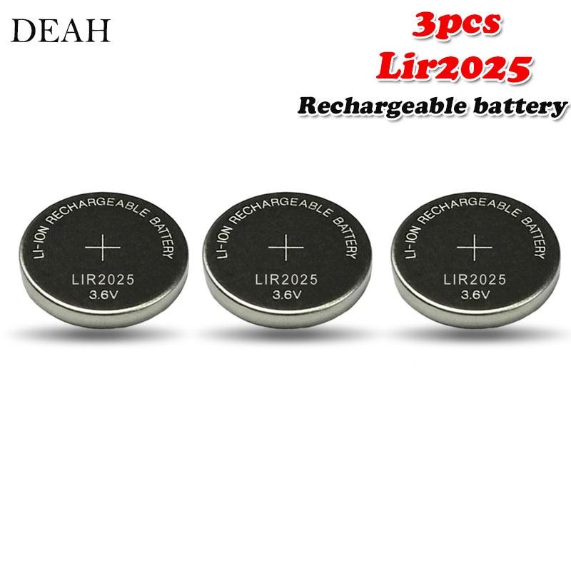Литиевая аккумуляторная батарея LIR2025 LIR 3,6, 3 шт., 2025 В, 25 мАч, для пульта дистанционного управления, часов, компьютера, материнской платы, Кнопо...
