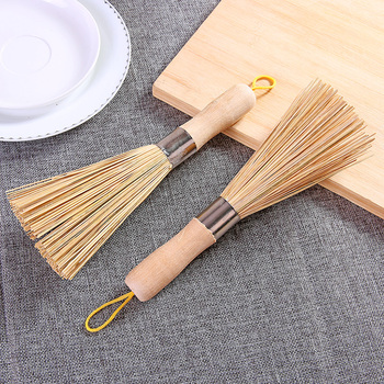Non-stick oil bamboo wok brush kitchen pot strong polishing Rust Remover scrubber dust broom cleaner Household Cleaning Tools 6