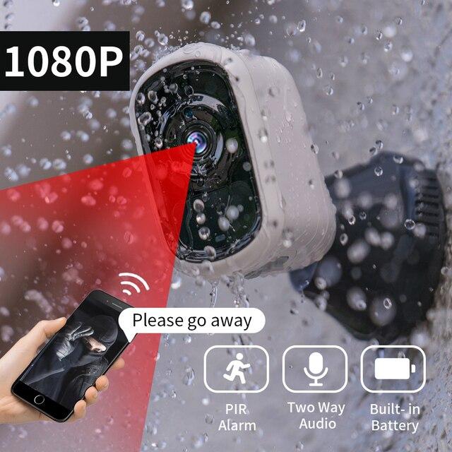 SDETER 2MP Rechargeable Battery IP Camera WIFI Outdoor Wireless Weatherproof Indoor IP65 Security Camera CCTV Motion Sensor P2P
