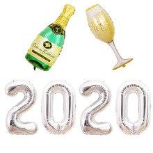 1set Oversized digital 40 inch 2020 rose gold decoration package New Year scene layout aluminum film balloon dress up