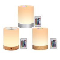 Augenschutz Tisch Licht Bunte Touch Fernbedienung Atmosphäre Lichter USB Aufladbare Nacht Lampe Home Decor