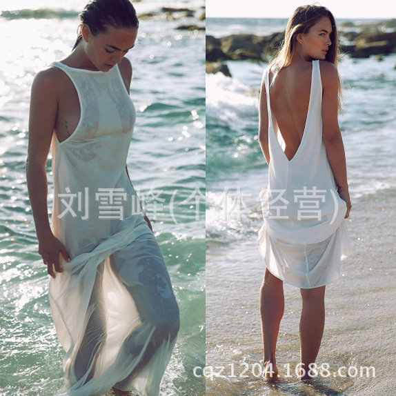 Europe And America Top Grade Bali Beads Beach One Piece Long Skirts, Outer Blouse Stock Processing