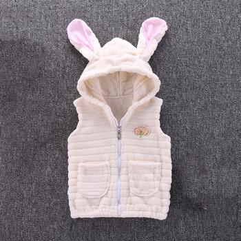Wiosenna odzież dziecięca kamizelki i kamizelki dziewczynek zimowa ciepła jednolita kurtka gruba powłoka odzież wierzchnia kurtka 90-120cm tanie i dobre opinie Unini-yun COTTON CASHMERE Wełniana thick Czesankowe 18 9 Chłopcy Stałe Z kapturem REGULAR moda Dobrze pasuje do rozmiaru wybierz swój normalny rozmiar