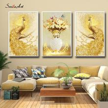 Beautiful peacock Posters Canvas Wall Pictures Fashion For Living Room Home Decor Cuadros