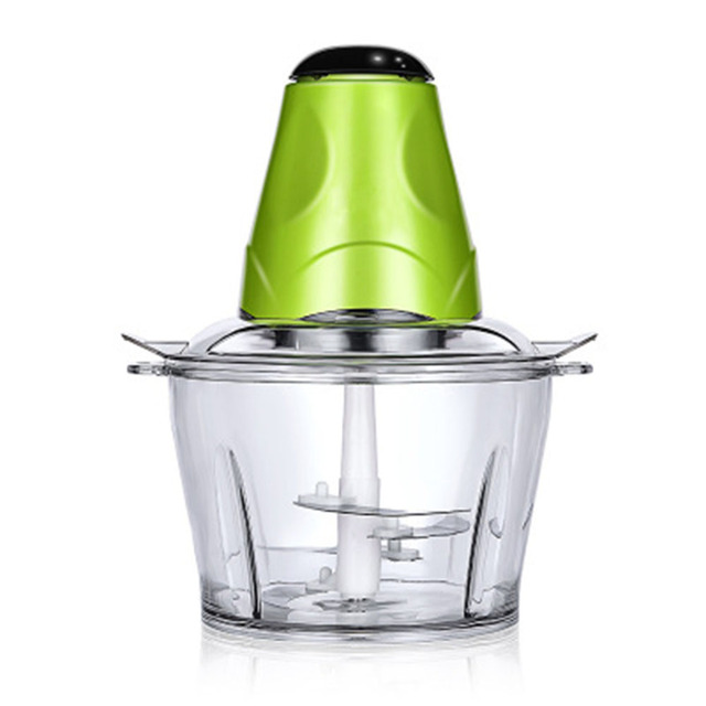 2L Automatic Powerful Electric Meat Grinder Multifunctional Food Processor Electric Chopper Meat Slicer Cutter Blender 5