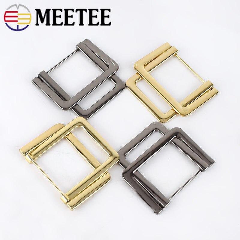 Deepeel 2/5pcs ID37mm Metal Rectangle Double D Ring Buckles Belt Hook DIY Shoe Garment Decoration Buckle Hardware AccessoryBF470
