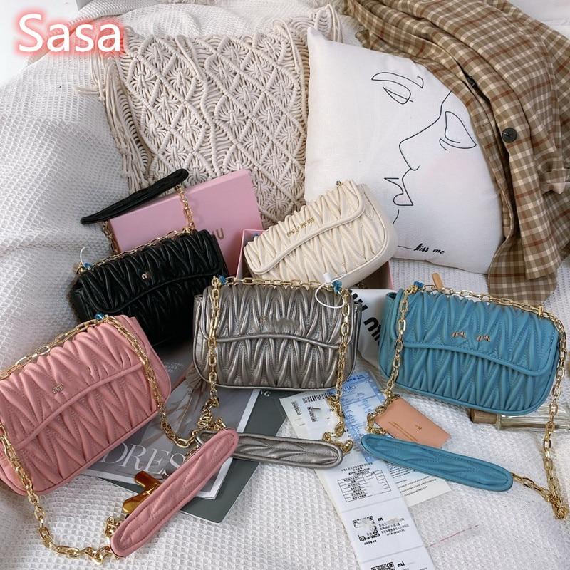 Camera Bag Women High Quality Shouder Bags Double Zipper Pockets Long Strap Chain Crossbody Bag Ladies Small Square Phone Bag